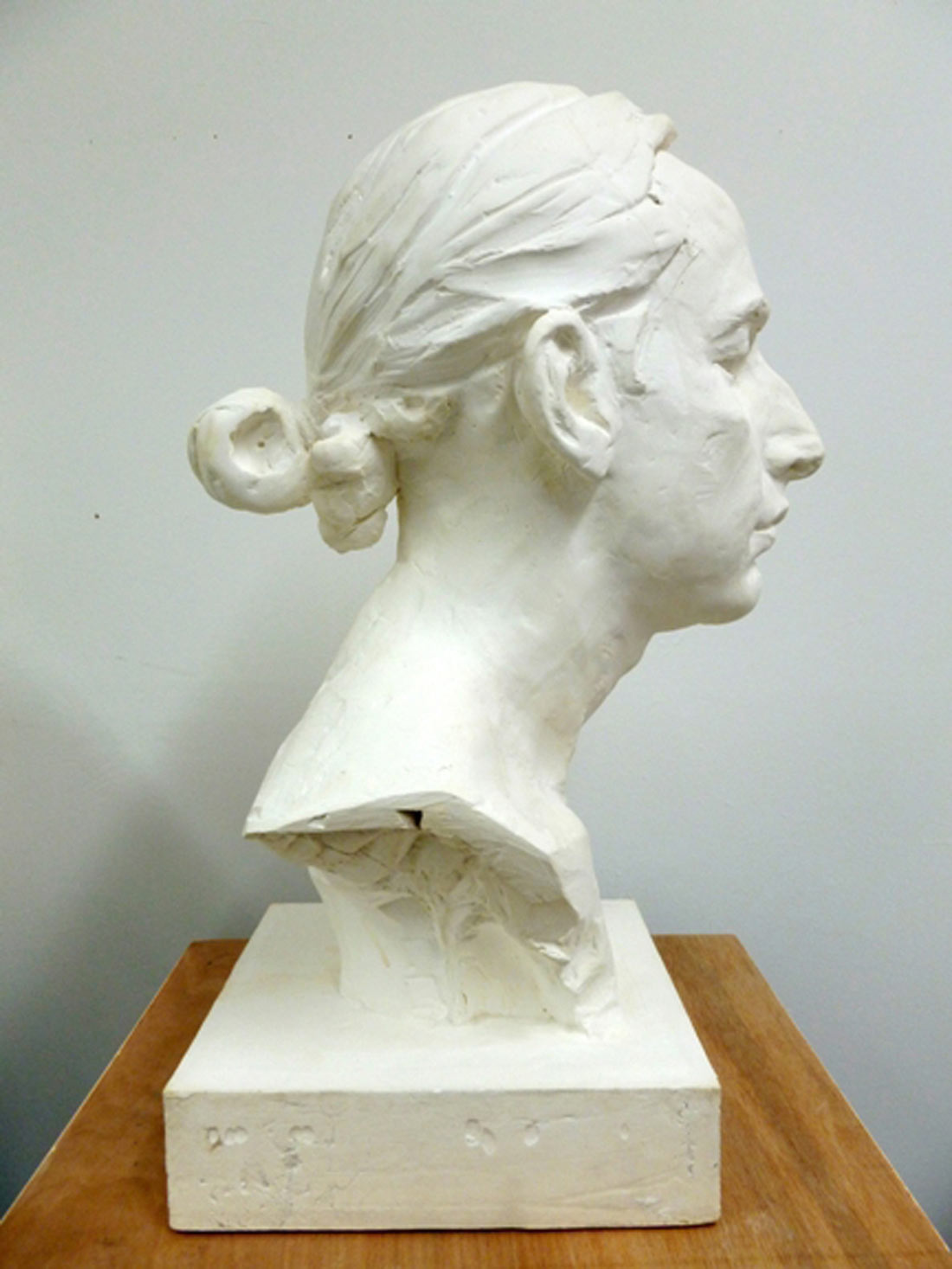Alistair, plaster from clay original, 2014