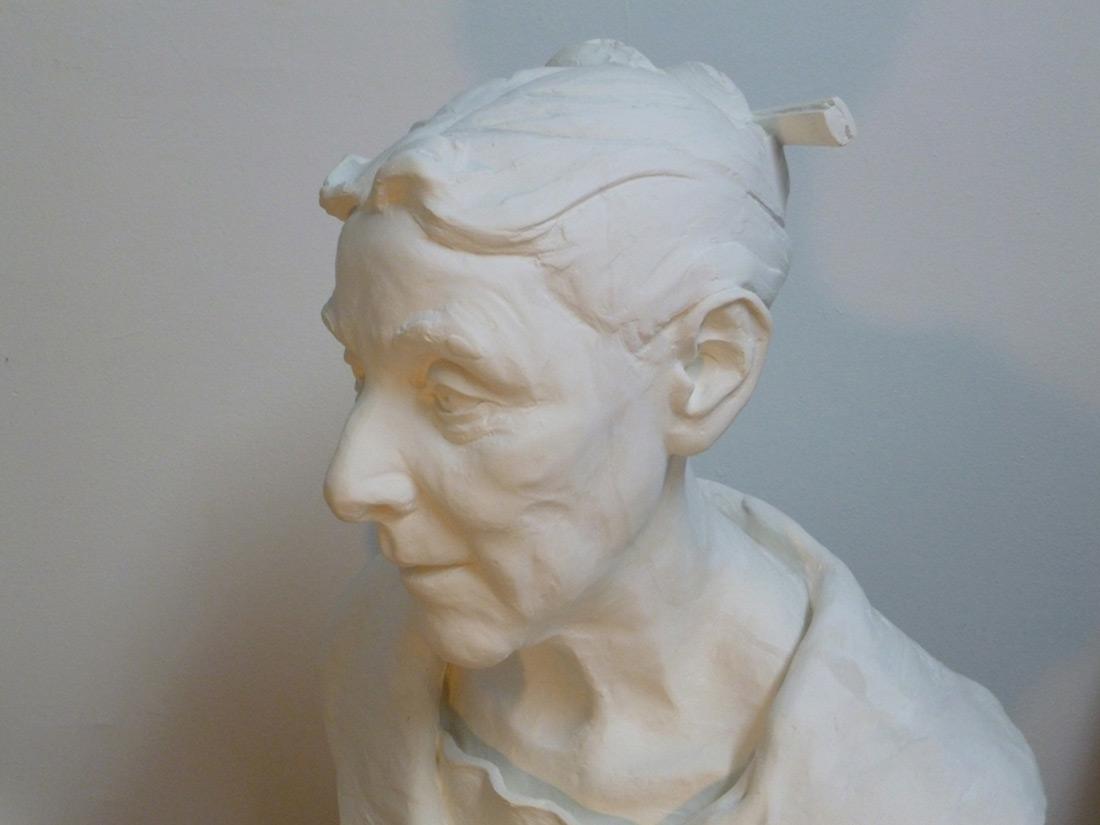 plaster portrait sculpture