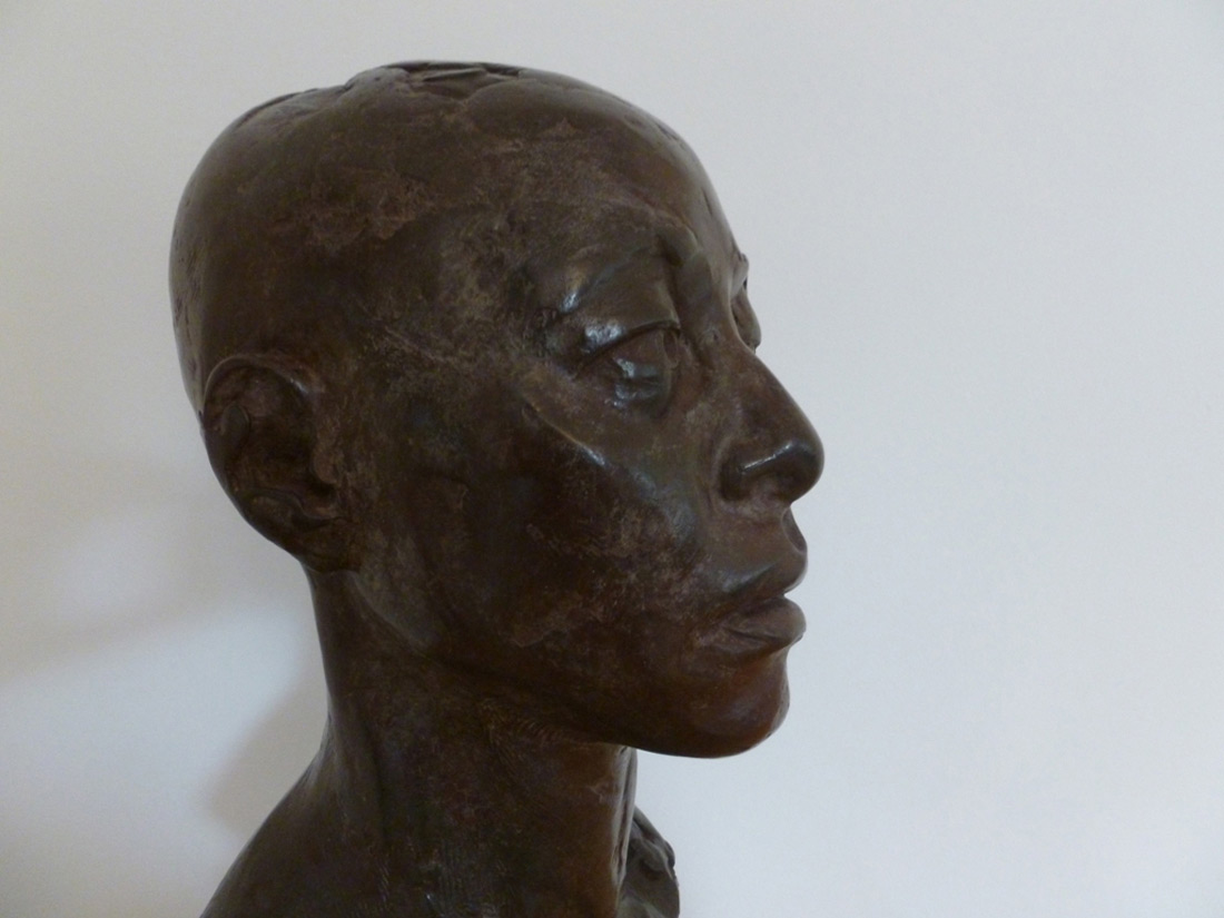 Pauline bronze from plaster cast of clay original 2015 3