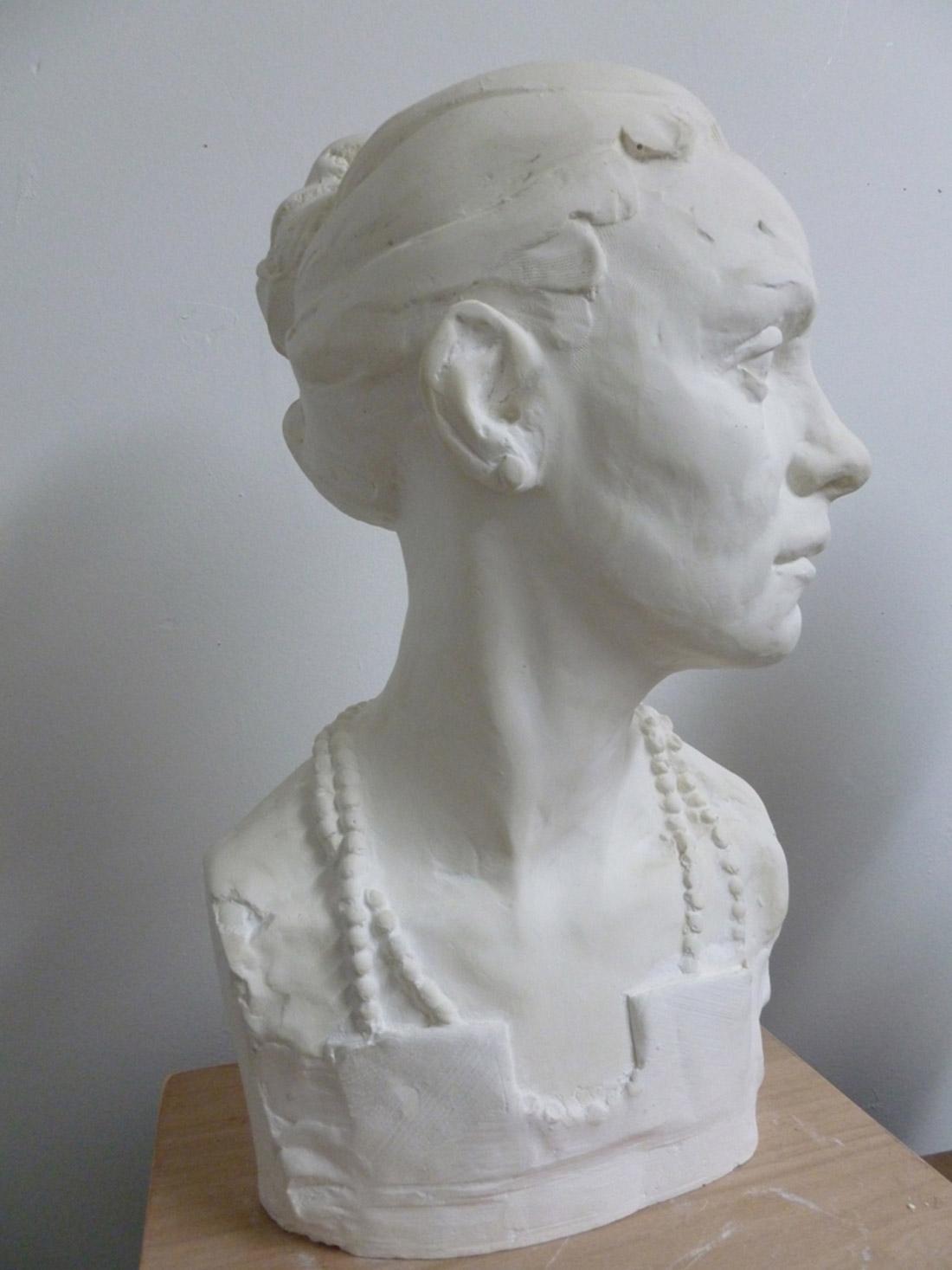 Theodora portrait sculpture