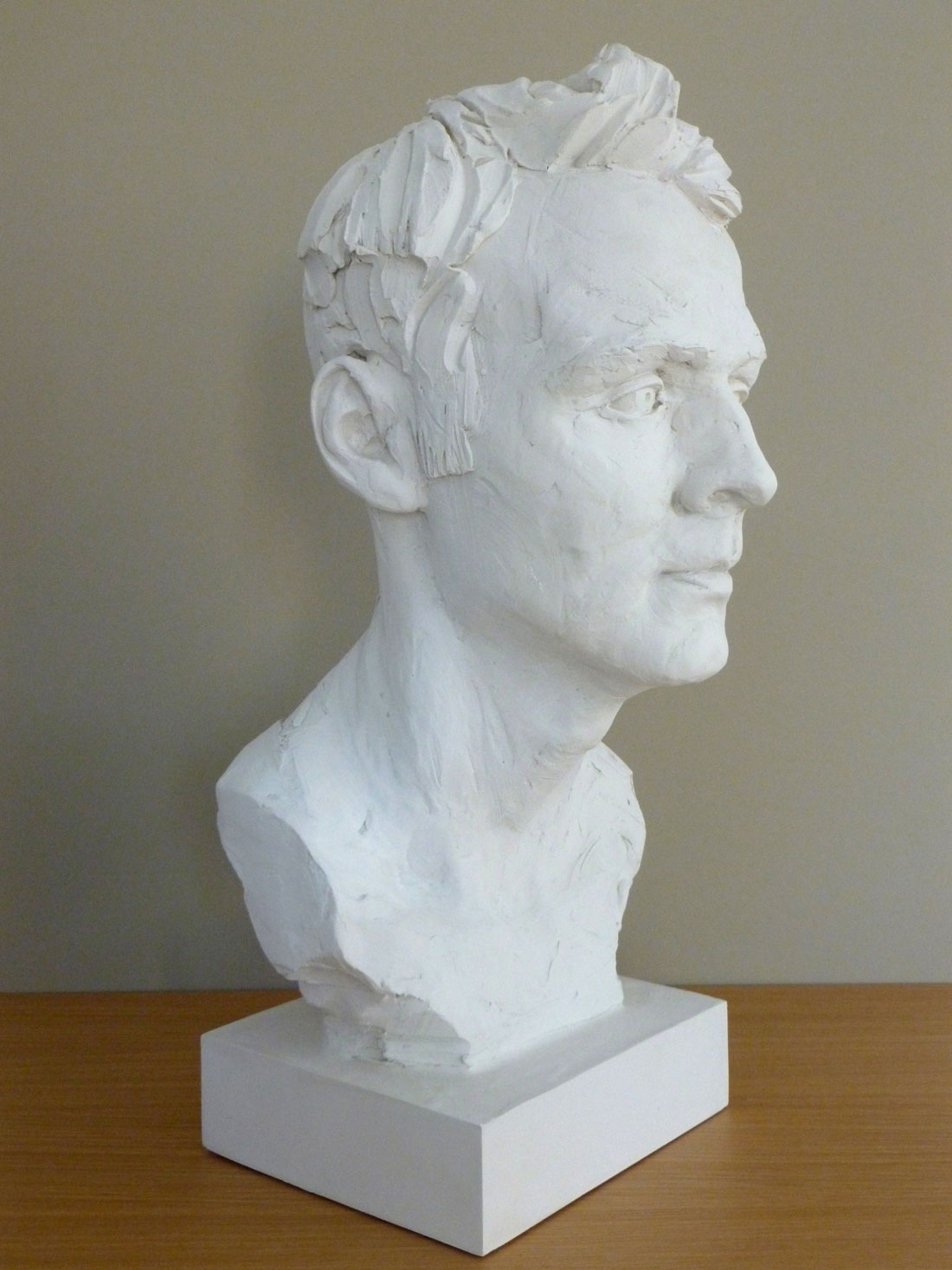 portrait sculpture from plaster