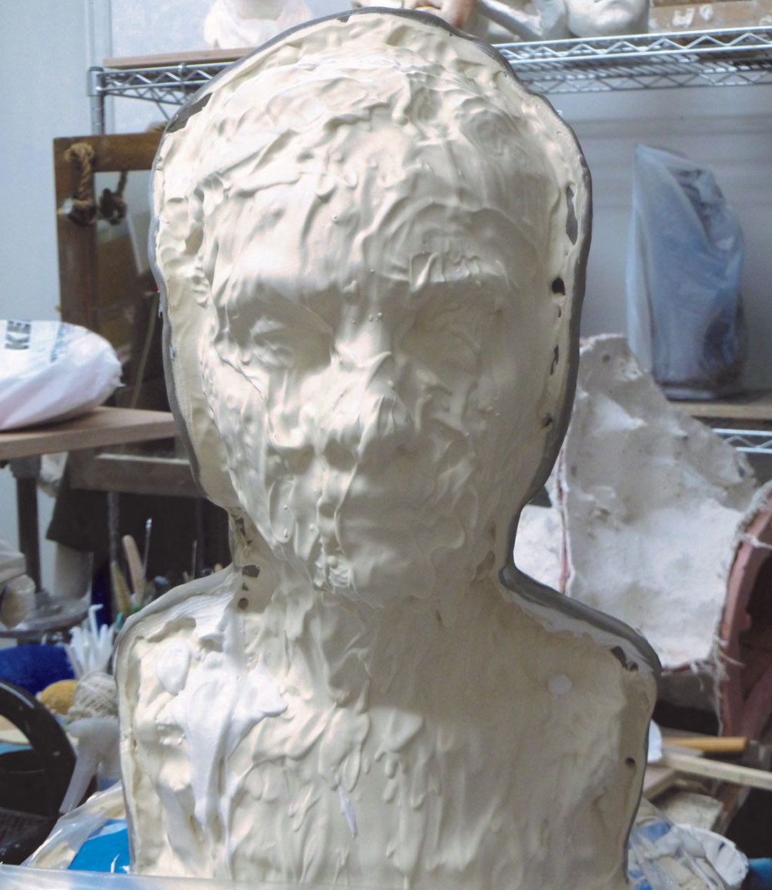 plaster on clay